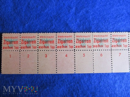 Wehrmacht-kartki na papierosy.