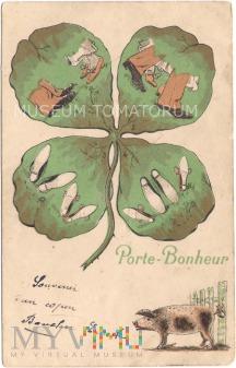 Pocztówka okolicznościowa - Szczęścia - 1907