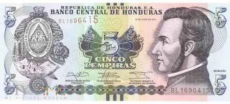 Honduras - 5 lempir (2014)