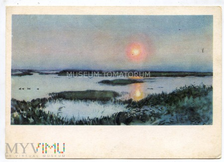 Fałat - Zachód słońca nad mokradłami