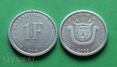 Burundi, 1 Franc 2003