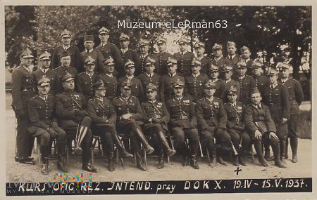Kurs ofic. rez. intend. przy X DOK. Przemyśl.1937