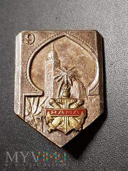Odznaka 9-tego Pułku Artylerii Morskiej - Francja