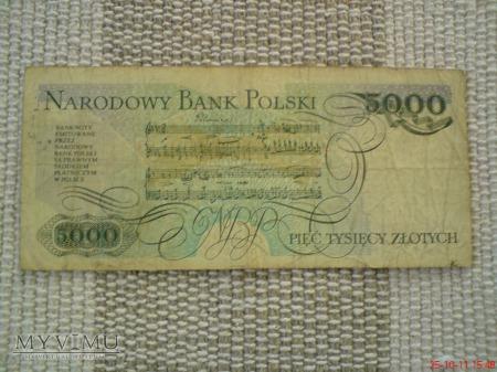 5000 złotych 1988 r.