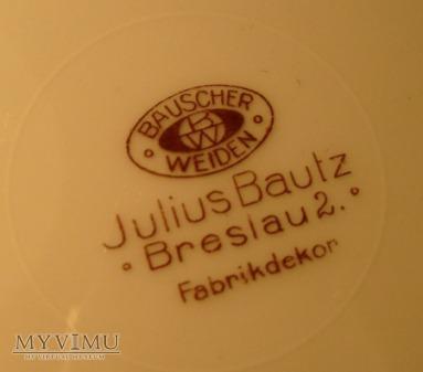 Julius Bautz Breslau 2 -duży płaski talerz