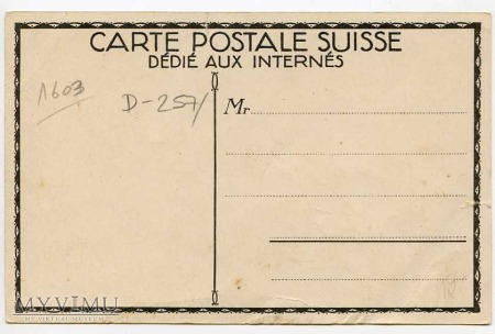 Souvenir de ZURICK 1915 Svisse