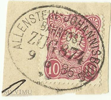 10 pfennig Królewiec - Pisz - 1886 r.