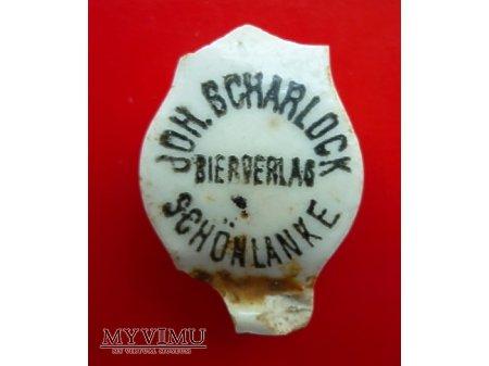 Scharlock Johann-podłużna,czarny napis.