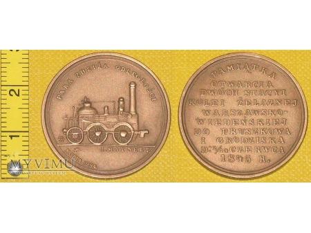 Medal kolejowy - reprint medalu z 1845 r.