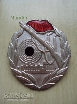 Odznaka: Schießabzeichen der Kampfgruppen- srebro