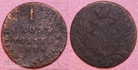 1824, 1 grosz