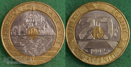 Francja, 20 francs 1992