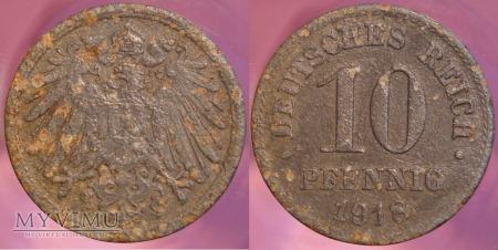 Niemcy, 1918, 10 PFENNIG