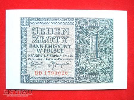 1 złoty 1941 rok