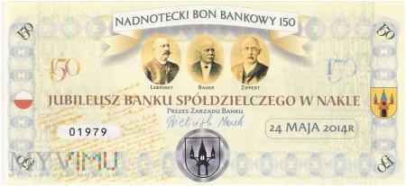 Polska (Nakło) - nadnotecki bon bankowy 150 (2014)