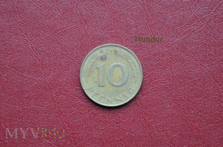 Moneta niemiecka: 10 pfennig