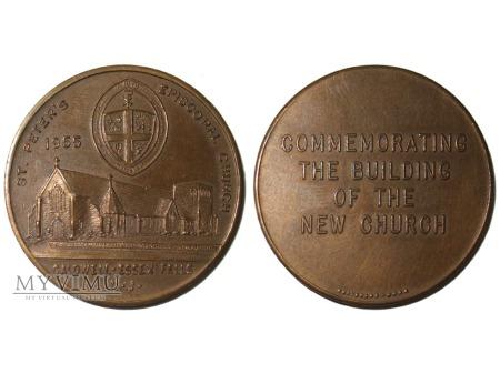 Kościół episkopalny Św. Piotra medal brązowy 1955