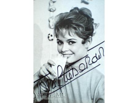 Brigitte Bardot Autograf i szklanka mleka PROST !!