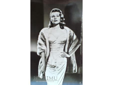 Duże zdjęcie Rita Hayworth fotografia pocztówka VINTAGE 50-te