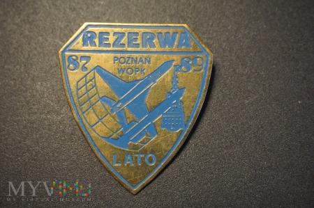 Odznaka Rezerwy Lato 87/89 WOPK - Poznań