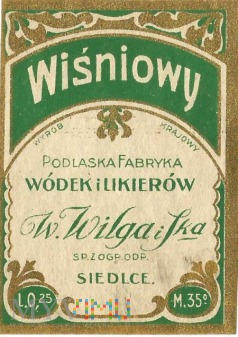Likier wiśniowy 0,25l - 35%.