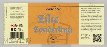 BorrelNoot Zilte Zonderling