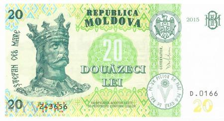 Mołdawia - 20 lei (2015)