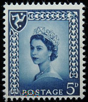 Wyspa Man 5d Elżbieta II