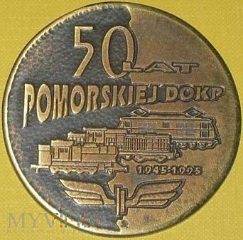 Medal 50 lat PKP Pomorskiej DOKP