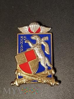 Odznaka 35 Pułku Artylerii Spadochronowej Francja