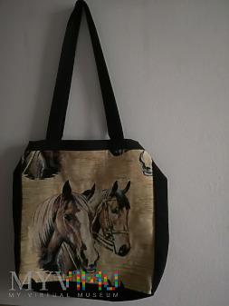 torba z uszami - para końskich głów / łbów