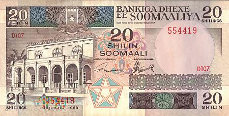Somalia - 20 szylingów (1989)