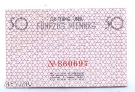 LITZMANNSTADT GETTO --- 50 pfenning .