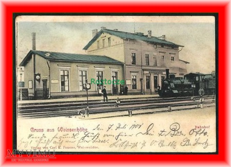 BIAŁOŚLIWIE Weissenhöhe Dworzec kolejowy