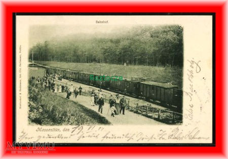 MŚCIĘCINO Messenthin, Dworzec kolejowy