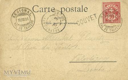 Szwajcaria - MUTUO SOCCORSO 1895 TRAVERS