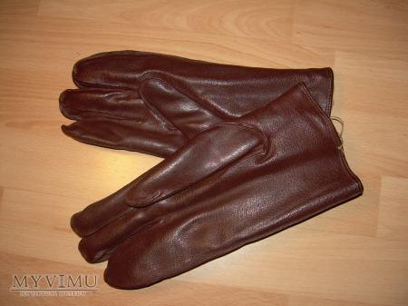 Rękawice skórzane brązowe