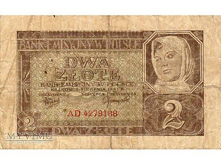 2 Złote 01.08.1941 r.