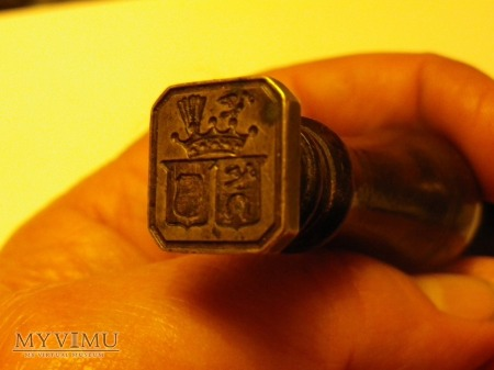 Herb Ślepowron - pieczęć do laku nr 2 małżeńska