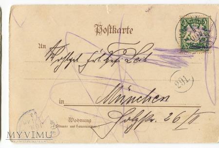 1900 Paul Hey Post Morgenfahrt pocztówka