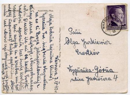 W-wa - Plac Saski - Sąd Wojskowy - 1942 ok.
