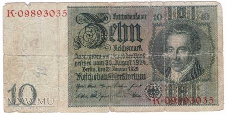 Niemcy, 10 marek 1929r Ser.K