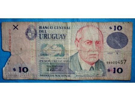 10 Pesos urugwajskich