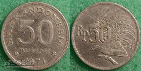 Indonezja, 50 RUPII 1971