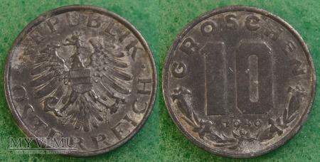 Austria, 10 groschen 1949