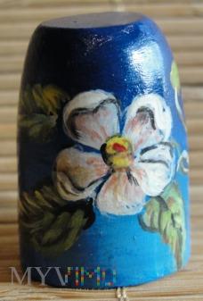 drewniany w kwiaty