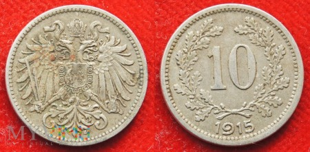 Austria, 10 heller 1915