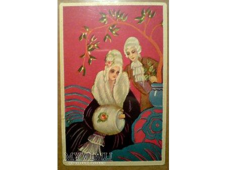 Duże zdjęcie ART DECO Mufka Para Barokowa Kobieta