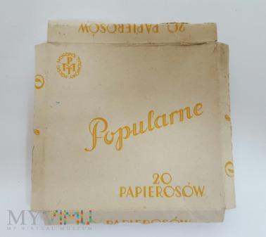 Papierosy POPULARNE PMT 1937 r. pudełko