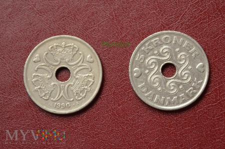 Moneta duńska: 5 kroner
